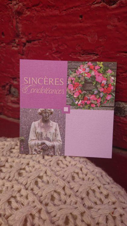Cartes Message Sincères condoléances