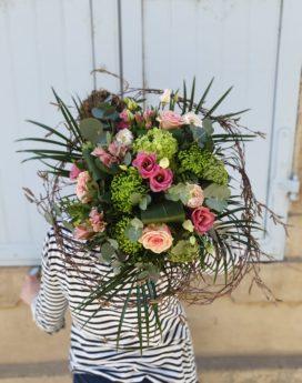 Bouquet passion au-paradis-des-fleurs-fleuriste-neuville-sur-saone-mariage