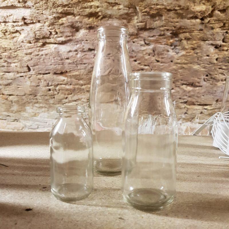 au-paradis-des-fleurs-fleuriste-neuville-sur-saone-mariage vase bouteille