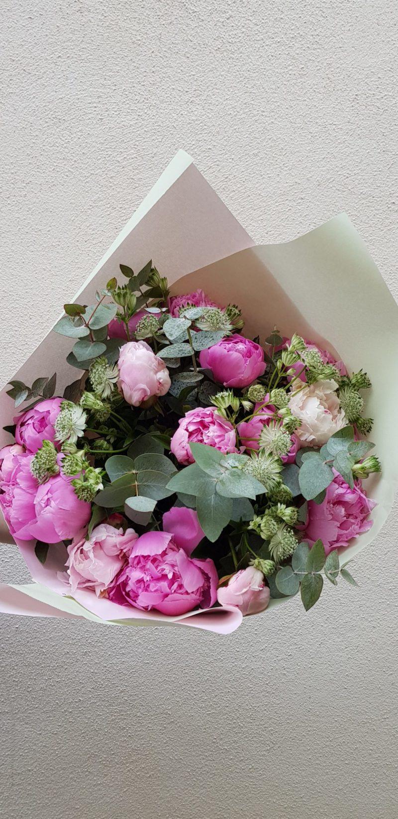 bouquet prosperite-au-paradis-des-fleurs-fleuriste-neuville-sur-saone-mariage-pivoine