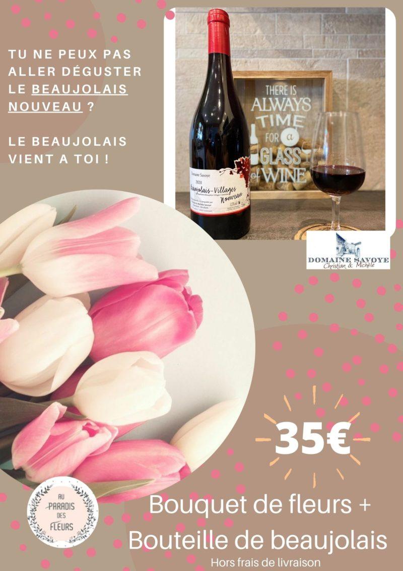 composition fleurs sechees lyon au paradis des fleurs tulipe beaujolais nouveau