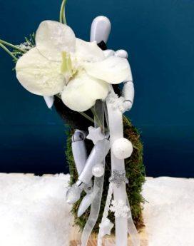 Gentleman composition fleurs sechees lyon au paradis des fleurs noel fête
