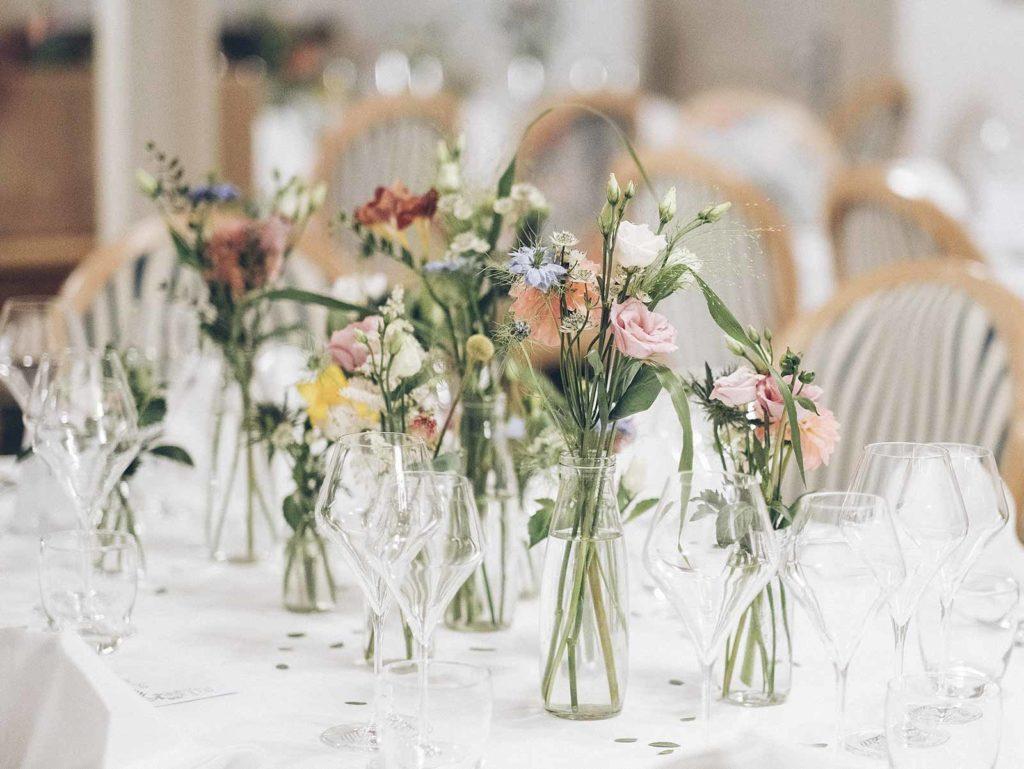 décoration mariage centre de table fleurs fleuriste lyon neuville sur saone