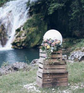 décoration extérieure mariage