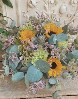 Composition Angéline composition florale fleurs fleuriste Lyon Neuville sur Saone