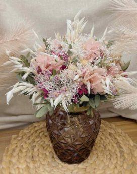 bouquet Lucette fleurs séchées Jacquie fleuriste lyon neuville sur saone mariage décoration