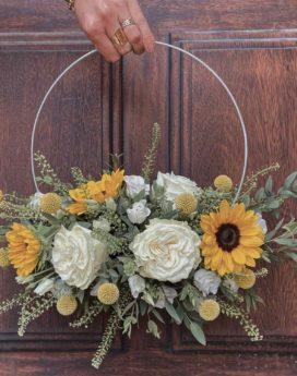 bouquet suspendu suzanne fleuriste lyon neuville sur saone mariage