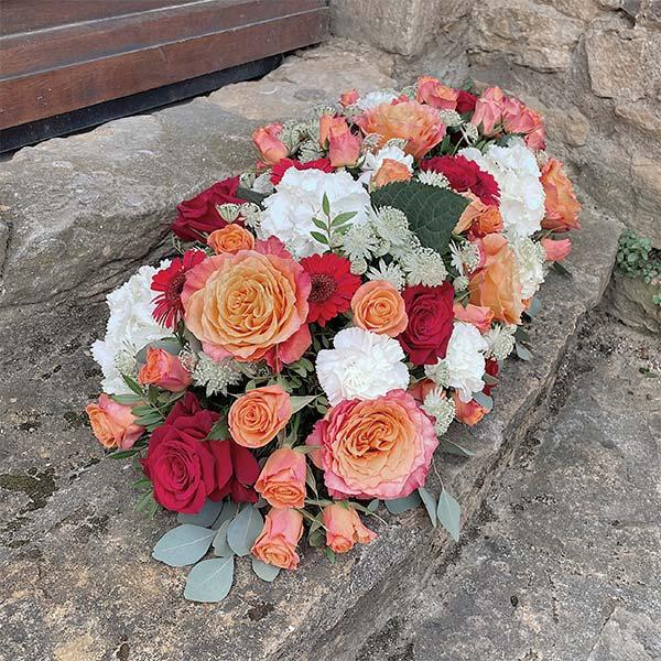 dessus de cercueil Jeanne deuil décès enterrement Neuville sur Saone Lyon