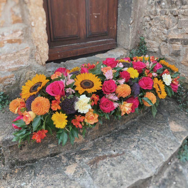 dessus de cercueil Henriette deuil décès enterrement Neuville sur Saone Lyon