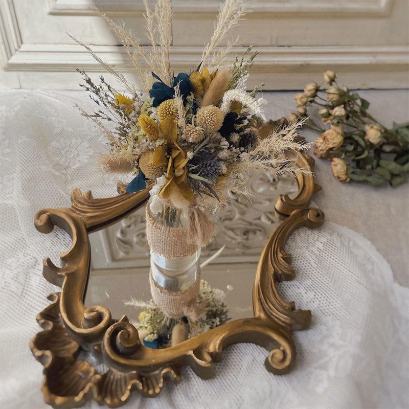 Soliflore Jacquie bouquet fleurs séchées fleuriste lyon neuville sur saone mariage décoration