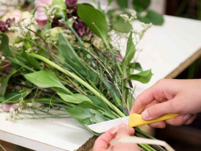 confection d'un bouquet